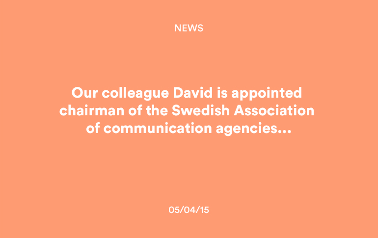 News: David appointed chairman of Komm